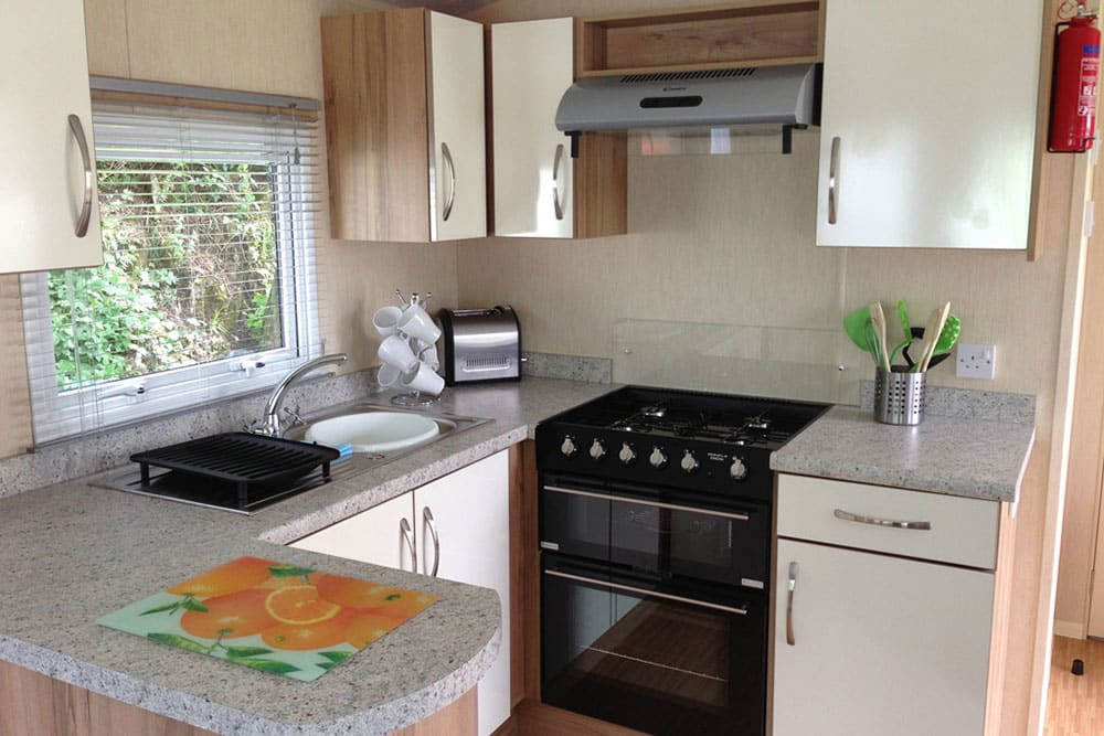Lime Tree Holiday Park Facilities Caravan Kitchen 2