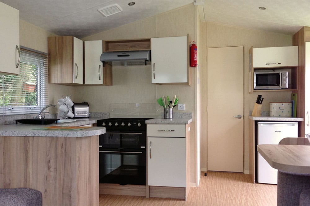 Lime Tree Holiday Park Facilities Caravan Kitchen