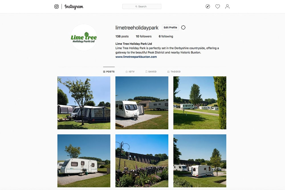Follow us on Instagram - Lime Tree Holiday Park