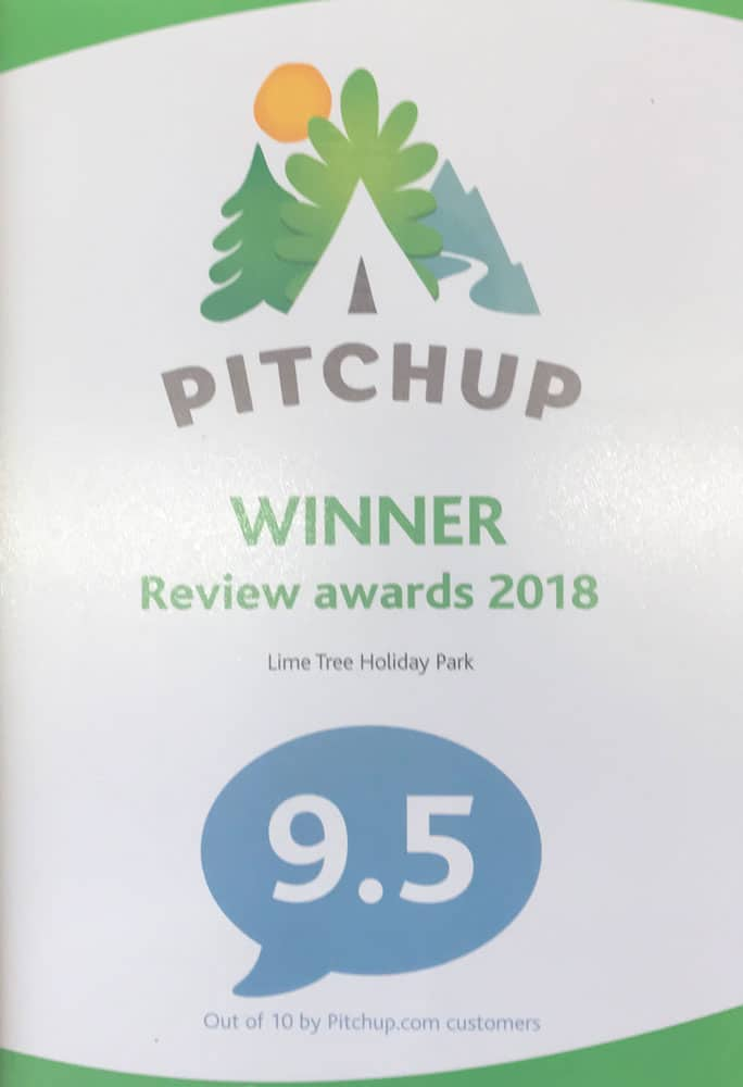 You said it - we won it! Lime Tree Holiday Park, Pitchup.com